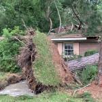 Gov. Kemp Tours Adel To Get First Hand Look At Devastating Storm Damage