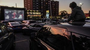 Queens Diner Turns Parking Lot Into Drive In Movie Theater