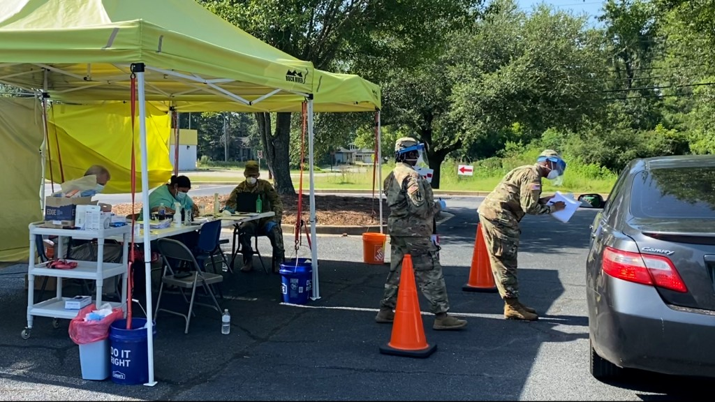 Testing Site With National Guard