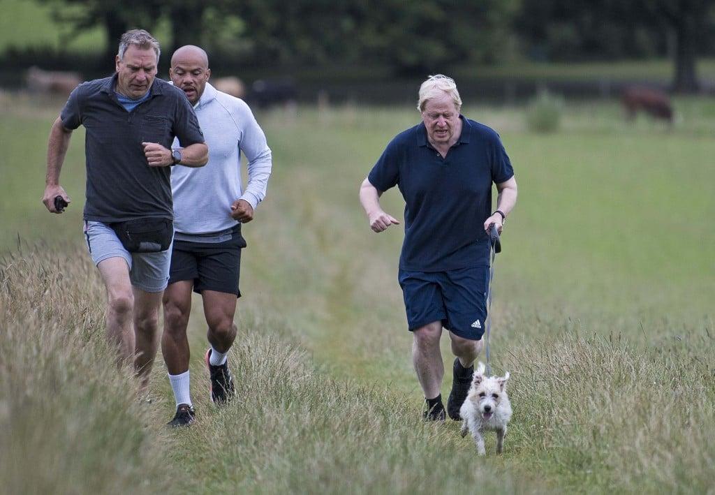 *** Exclusive *** Boris Johnson Seen Running To Lose Weight