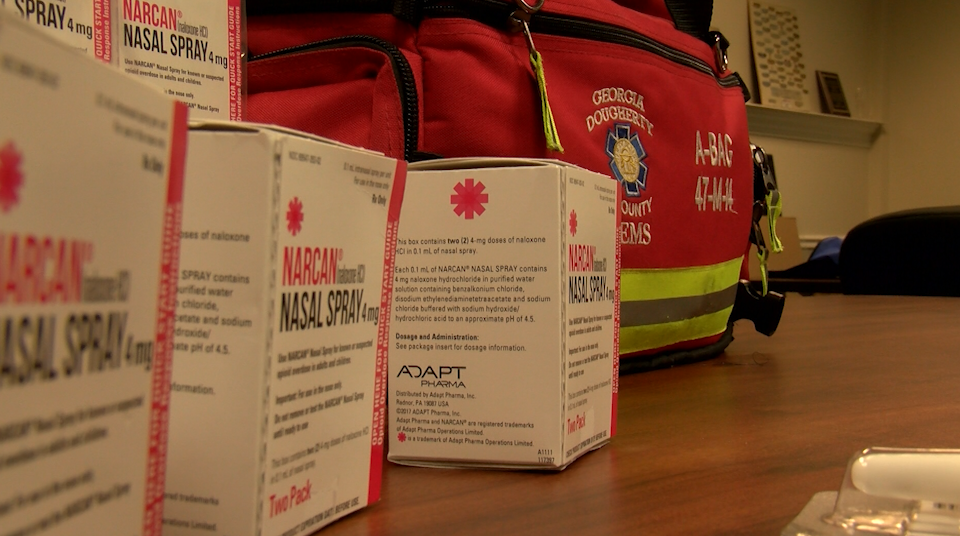 Dougherty Ems Receives Narcan Supply