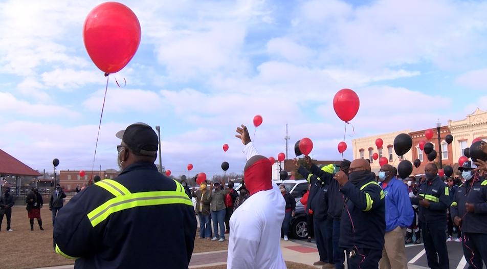 City Of Sylvester Holds Public Vigil For Larry Johnson