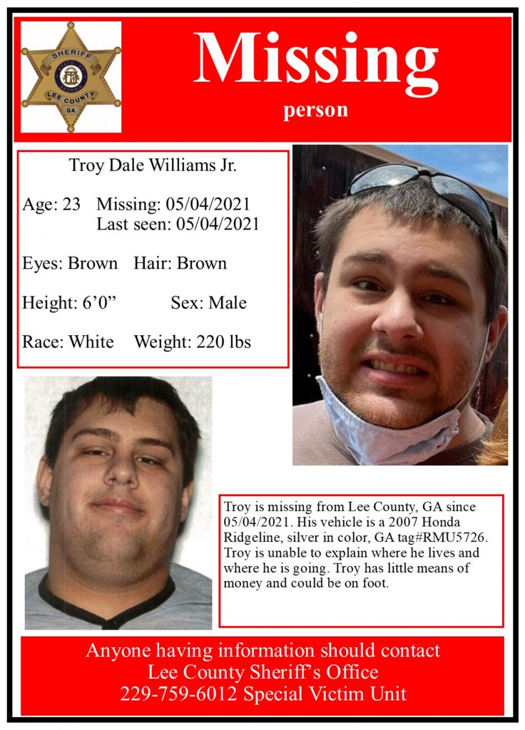 Missing Person Troy 2021