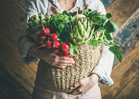Woman Holding Produce 99363551 S