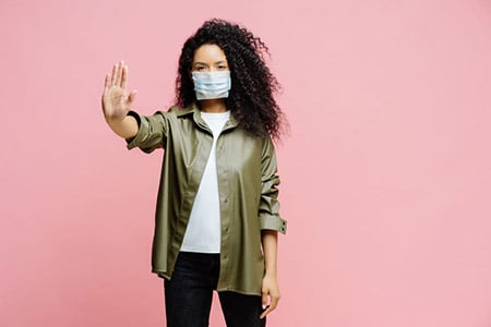 Black Woman Surgical Mask 143062370 S