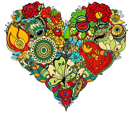 Heart Flowers 43233467 S
