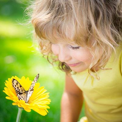 Girl Flower Butterfly 36423119 S