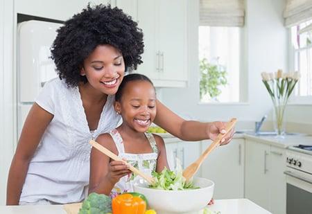 Vegetarian Family Mother Daughter 46071039 S