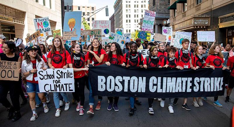 Boston Climate Strike Robin Lubbock Wbur