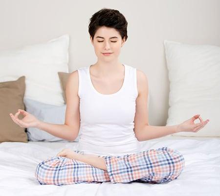 Meditating On Bed 21185704 S