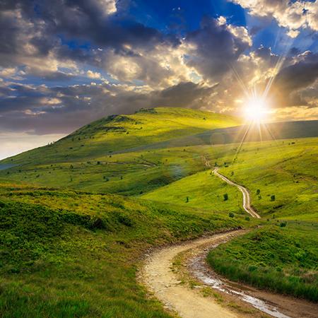 Winding Road Mountains Sun 29601456 S