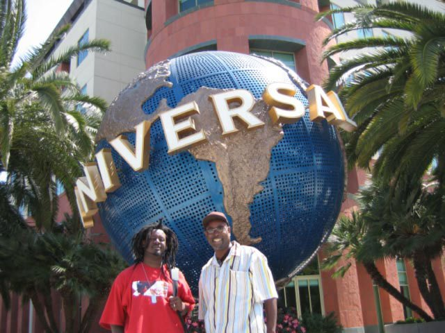 T-Pain at Universal Studios in Los Angeles. Historical Photos Courtesy Shaheed Najm