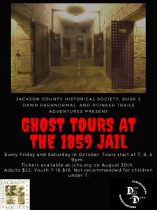 Ghost Tours at the 1859 Jail Museum @ 1859 Jail, Marshal's Home & Museum | Independence | Missouri | United States