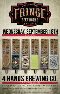 4 Hands Tap Takeover - Fringe Beerworks @ Fringe Beerworks | Lee's Summit | Missouri | United States