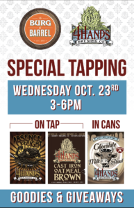 4 Hands Brewing Company Happy Hour @ Burg & Barrel Leawood | Leawood | Kansas | United States