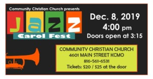 Tim Whitmer Hosts Jazz Carol Fest @ Community Christian Church | Kansas City | Missouri | United States