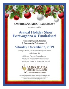 AMA Annual Holiday Show Extravaganza and Fundraiser @ Vintage Church | Lawrence | Kansas | United States
