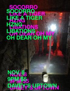 OH DEAR OH MY, LIBATIONS, HZNG, LIKE A TIGER, SOCORRO @ DAVEY'S UPTOWN | Kansas City | Missouri | United States