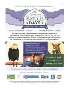 Eagle Days at Wyandotte County Lake @ Mr. & Mrs. F.L. Schlagle Library | Kansas City | Kansas | United States