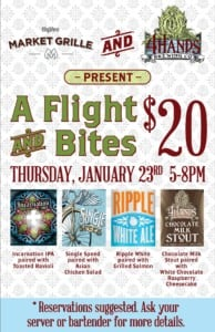 4 Hands Brewing Co. Flights & Bites @ Hy-Vee Market Grille | Olathe | Kansas | United States