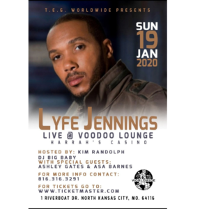 Lyfe Jennings @ VooDoo Lounge (inside Harrahs casino) | Kansas City | Missouri | United States