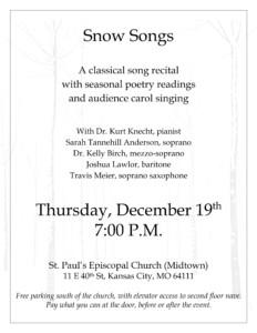Snow Songs @ St. Paul's Episcopal Church | Kansas City | Missouri | United States