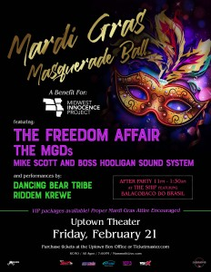 Mardi Gras Masquerade Ball Benefiting Midwest Innocence Project @ Uptown Theater | Kansas City | Missouri | United States