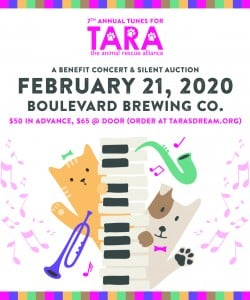 Tune for TARA: Musicians Unite for Homeless Pets @ Boulevard Brewing Company | Kansas City | Missouri | United States