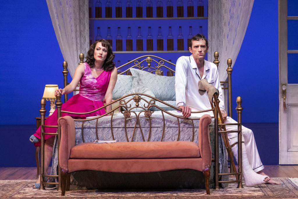 Vanessa Severo And Nathan Darrow As Maggie And Brick In Cat On A Hot Tin Roof Photo By Don Ipock 3