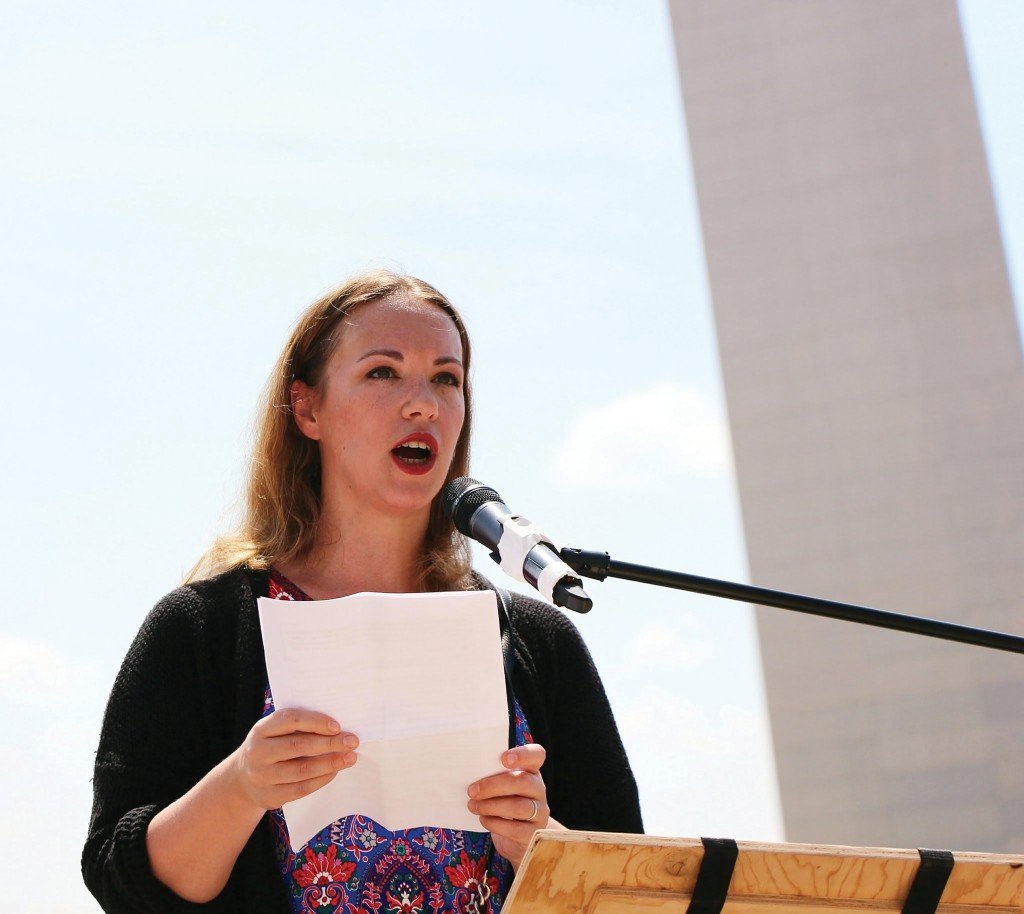 Sarah Speaking At The Arch Photo Sarah Kendzior