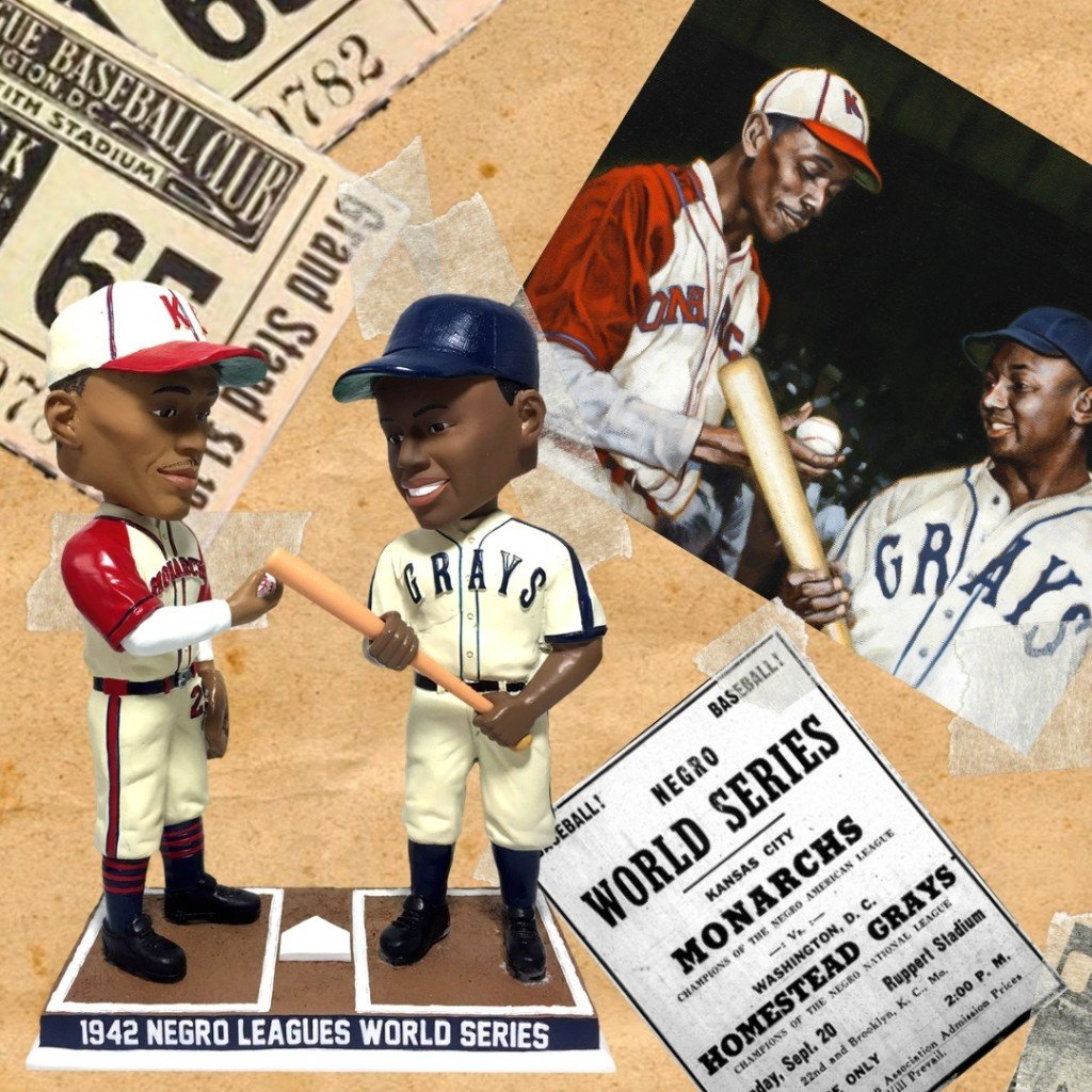 Negro Leagues World Series Satchel Paige And Josh Gibson Bobblehead (9)