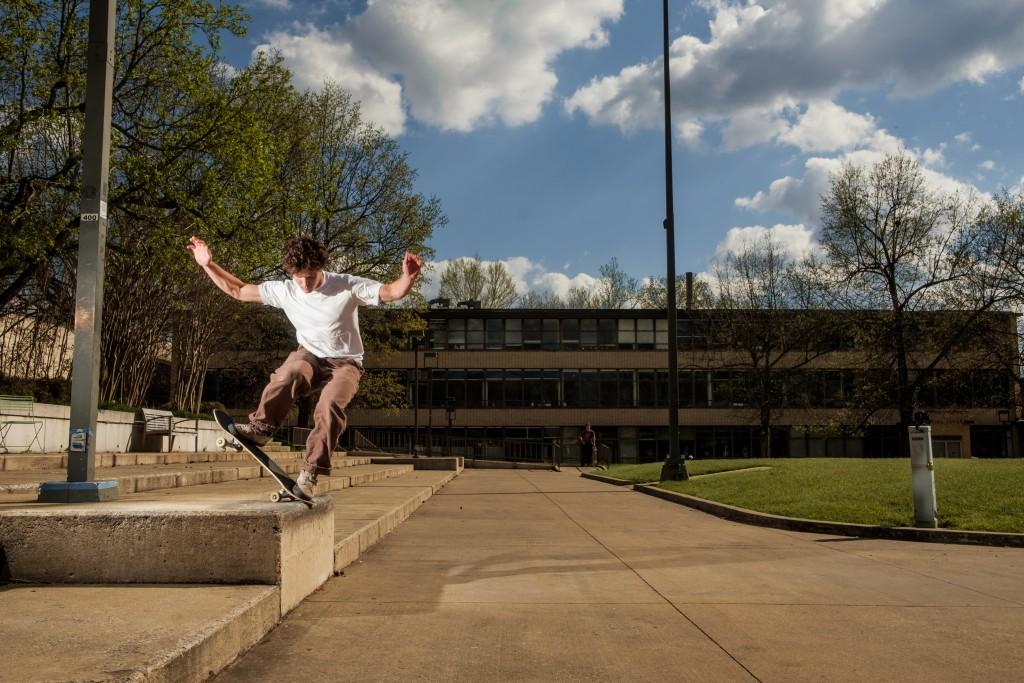 Connor Crist Fs Noseblunt U Of A Campus Fayetteville Ar