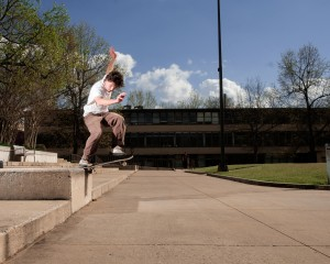 Connor Crist Switch Bs Noseslide U Of A Campus Fayetteville Ar