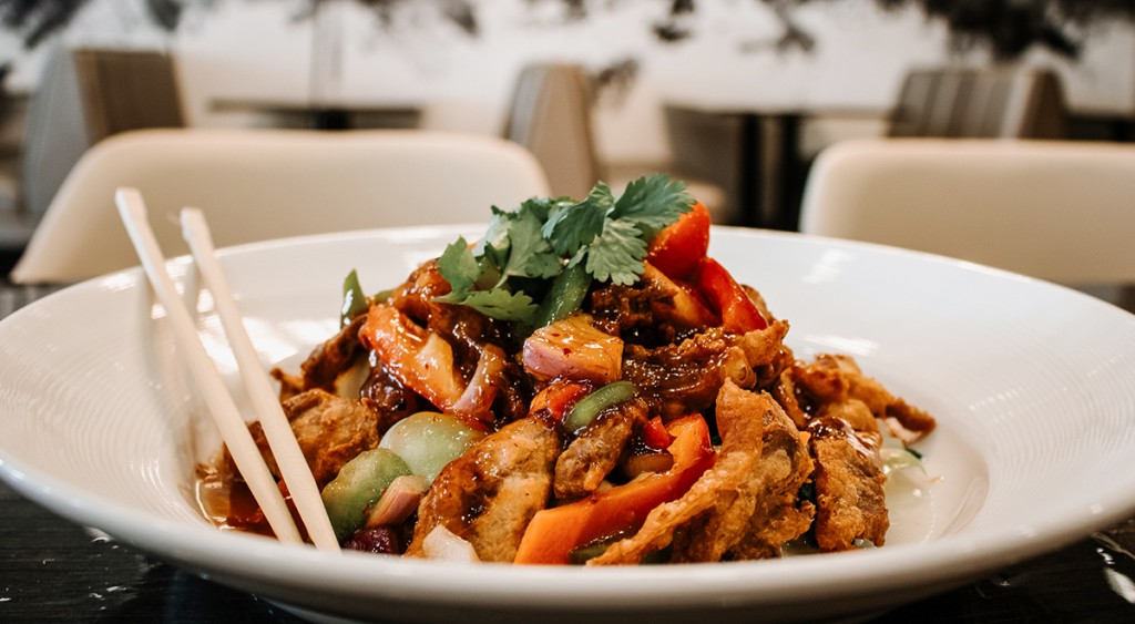 A photo of Tamarind duck from KC Thai