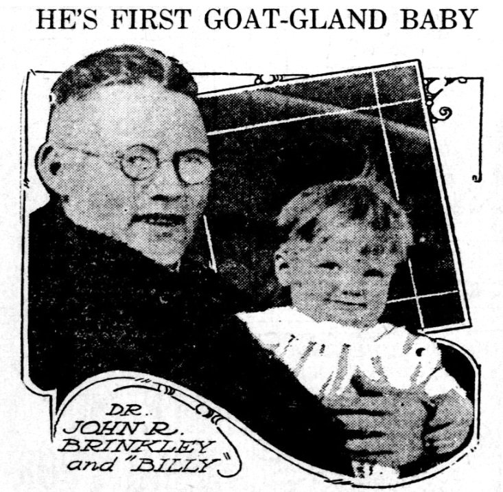 First Goat Gland Baby 1921 Library Of Congress