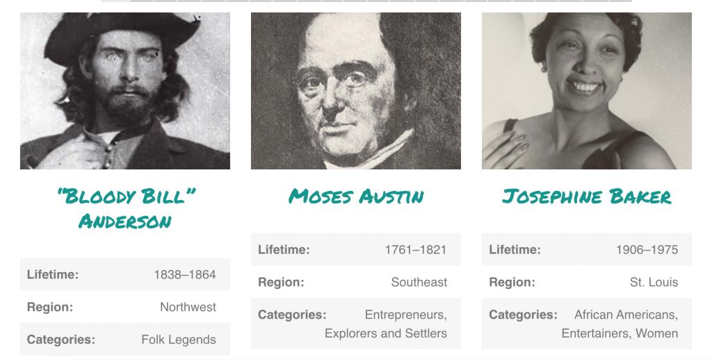 Historic Missourians