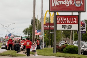 May 19 2021 Fight For 15 Workers Strike And Hold Rallies At Kc Mcdonald S And Lee S Summit Wendy S 17