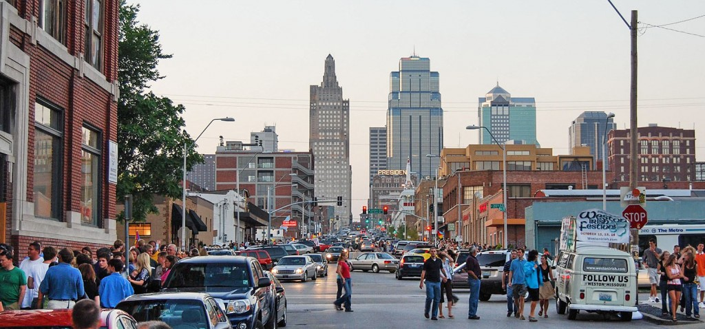 A photo of First Friday events in the Crossroads