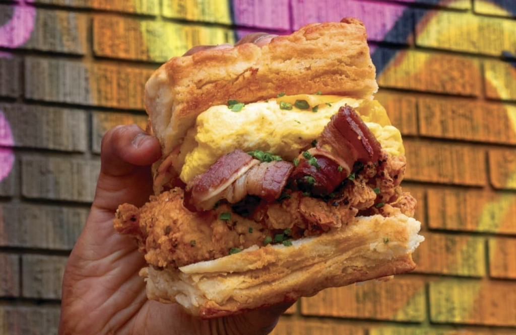 A photo of a sandwich from Distrikt Biskuits