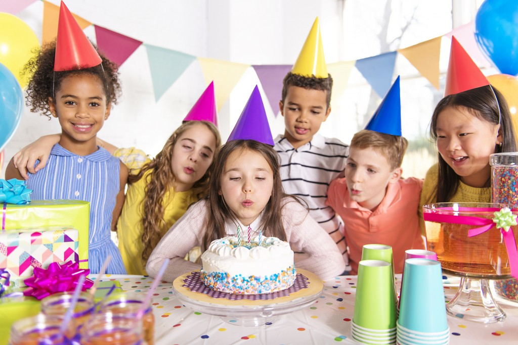 Group Of Children At Birthday Party At Home