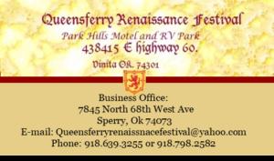 Queensferry Renissance Festival, Oklahoma's Little Scotland @ Parkhills Motel and Rv Park | Vinita | Oklahoma | United States