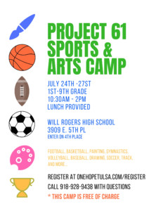 Project 61 Sports and Arts Camp @ Will Rogers High School | Tulsa | Oklahoma | United States