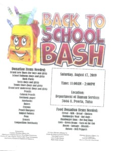 Back to School Bash-School Supply Giveaway @ Department of Human Services | Tulsa | Oklahoma | United States