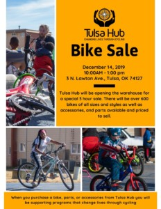 Tulsa Hub Winter Bike Sale @ Tulsa Hub Warehouse