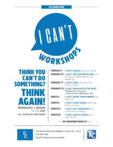 I Can't Make Enrichment with Tulsa Zoo @ McKeon Center for Creativity | Tulsa | Oklahoma | United States