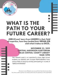 Career Networking Event for High Schoolers @ Aaronson Auditorium - Tulsa City County Central Library | Tulsa | Oklahoma | United States