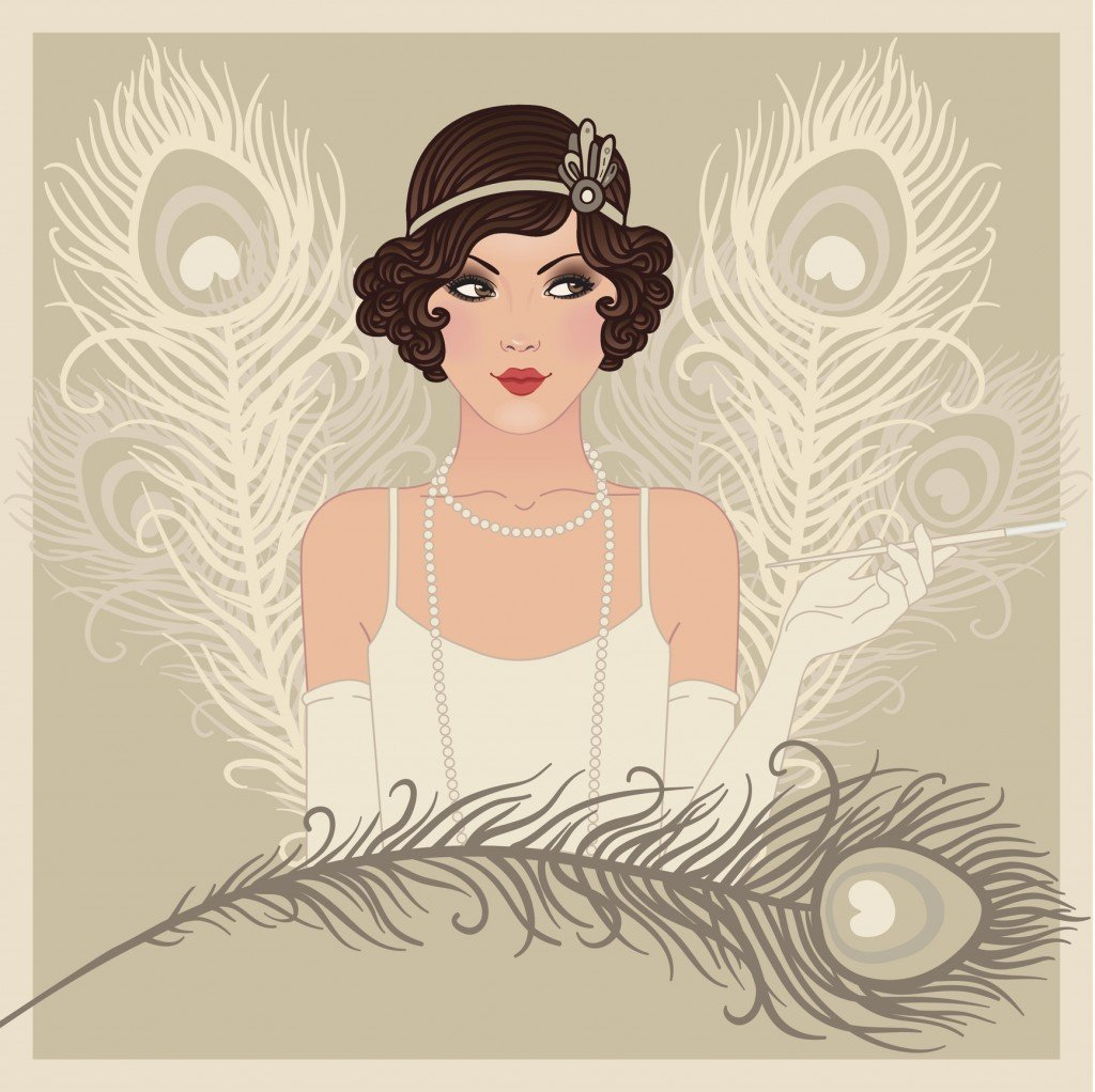 Flapper Gitl Series: Retro Party Invitation Design