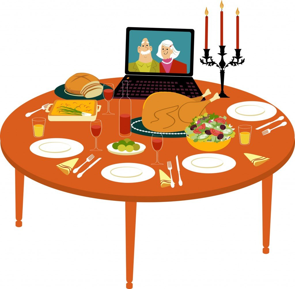 Virtual Guests At The Holiday Table