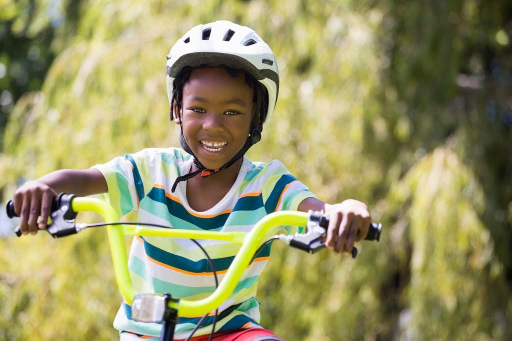 A Sporty Kid Bike Riding