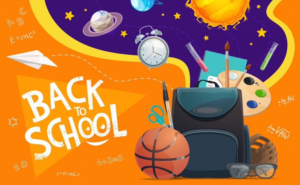Back To School Schoolbag, Education Supplies